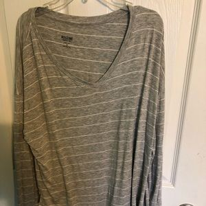 Striped grey long sleeve